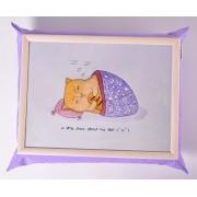 Мягкий cтолик на подушке Сонный котик